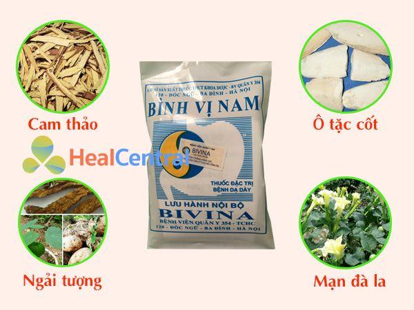 Các thành phần thảo dược trong thuốc Bình Vị Nam
