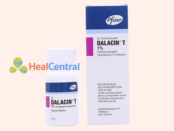 Hình ảnh hộp thuốc trị mụn Dalacin T