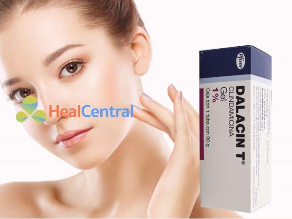 Dalacin T giúp da mặt sạch mụn