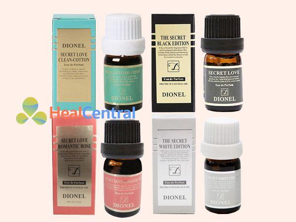 Full 4 loại mùi hương khác nhau của Dionel secret Love