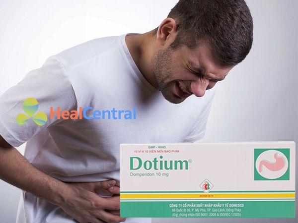 Thuốc Dotium được bào chế dưới dạng viên nén