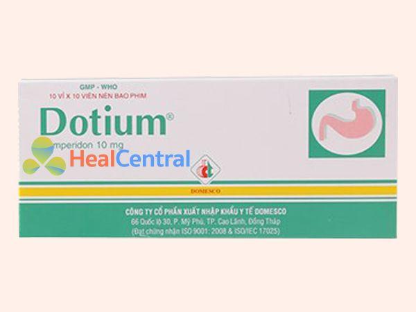 Thuốc Dotium điều trị tình trạng trào ngược dạ dày - thực quản