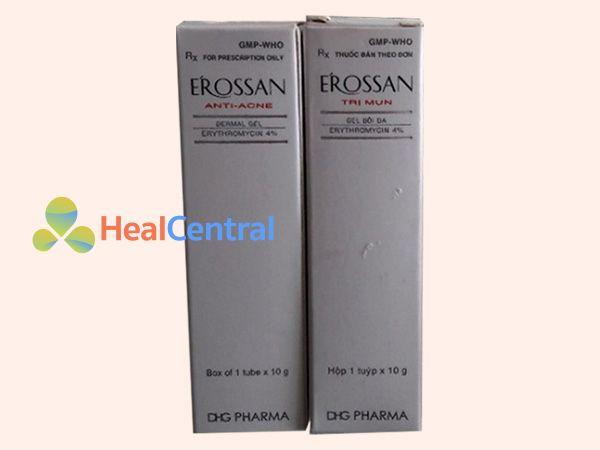 Thuốc trị mụn Erossan có chứa thành phần kháng sinh Erythromycin