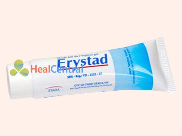 Thuốc trị mụn Erystad có dạng kem bôi da