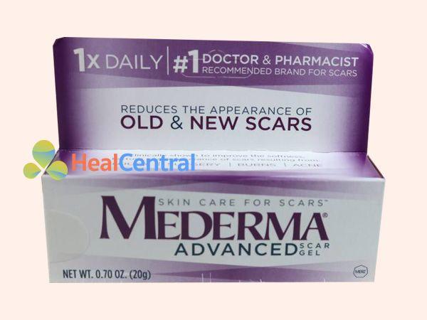 Mỗi hộp kem trị sẹo Mederma có 20g