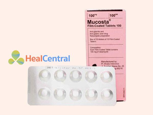 Thuốc Mucosta 100mg được bào chế dưới dạng viên nén