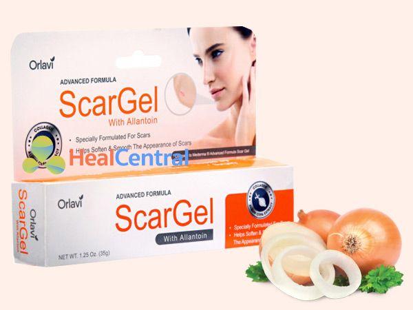 Thuốc Orlavi Scargel 35g có chứa chiết xuất từ củ hành tây