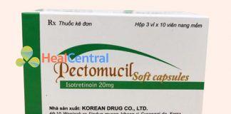 Thuốc trị mụn Pectomucil Soft Capsule