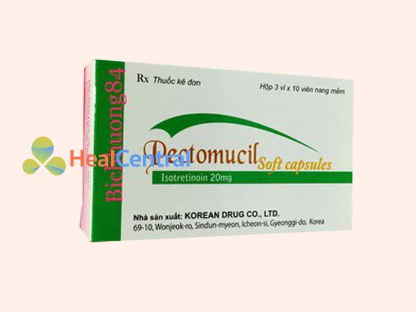 Thuốc Pectomucil Soft Capsule được bào chế dưới dạng viên nang