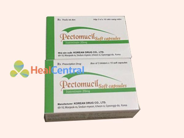 Thuốc Pectomucil Soft Capsule điều trị mụn trứng cá