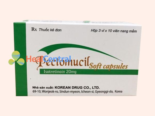 Thuốc Pectomucil Soft Capsule chứa thành phần Isotretinoin