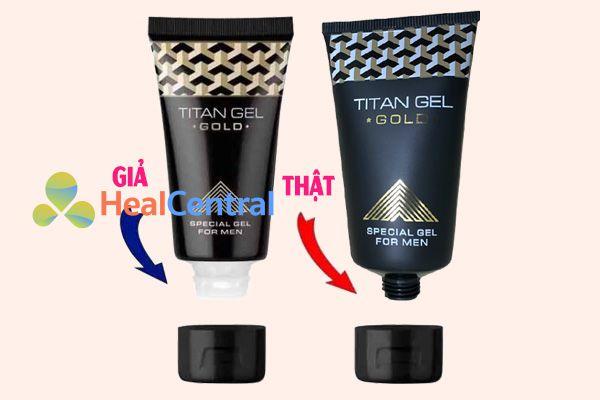 Phân biệt Titan gel Gold thật giả