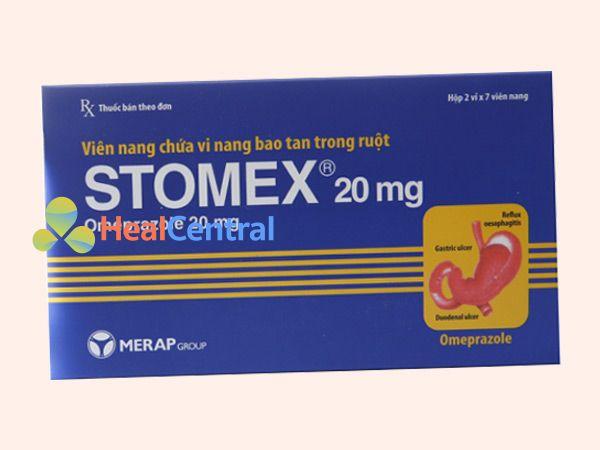Hình ảnh hộp thuốc Stomex 20mg