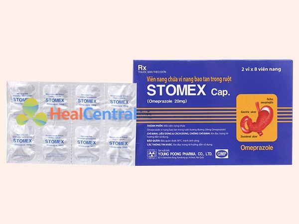 Thuốc Stomex vỉ 8 viên nang