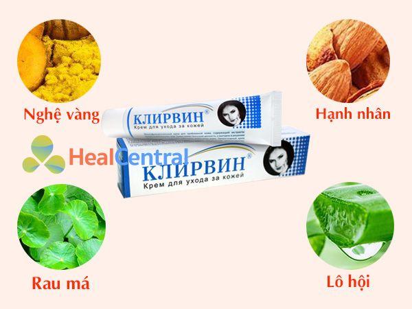 Các thành phần thảo dược có trong kem trị sẹo Kjinpbnh
