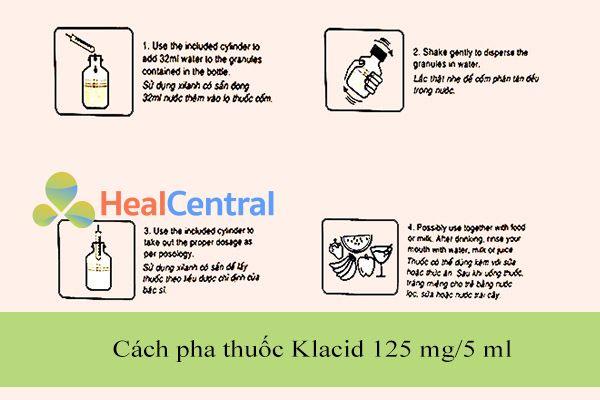 Cách pha thuốc Klacid