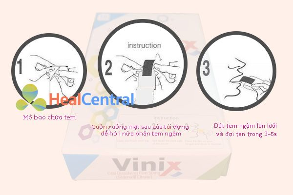 Cách sử dụng tem ngậm Vinix