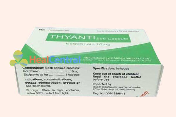 Chỉ định của thuốc Thyanti