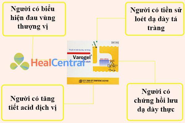 Chỉ định của thuốc Varogel