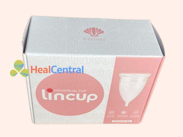 Mặt trước hộp sản phẩm Cốc nguyệt san Lincup