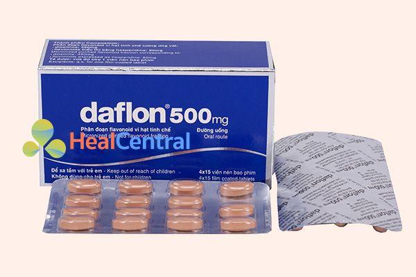 Hộp thuốc trị trĩ daflon