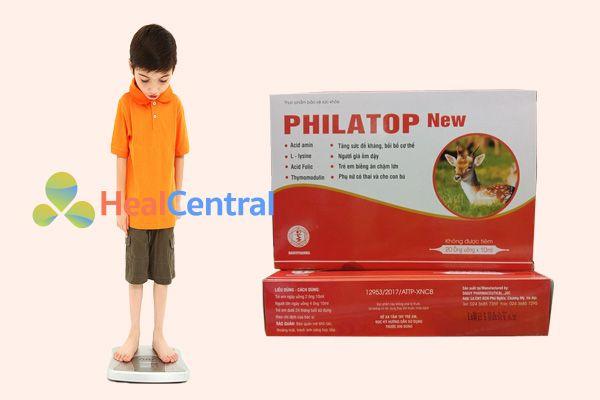 Trẻ em chậm lớn nên sử dụng Philatop