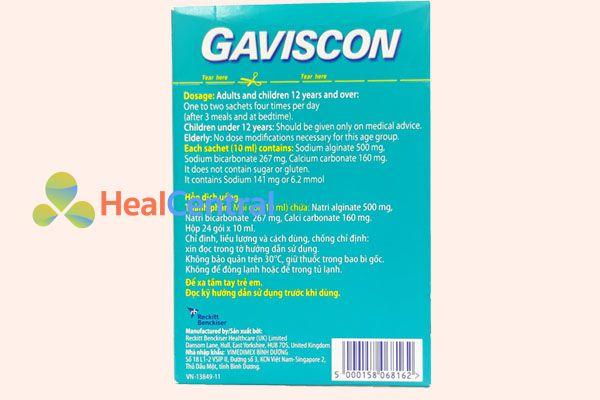 Gói thuốc Gaviscon Dual Action