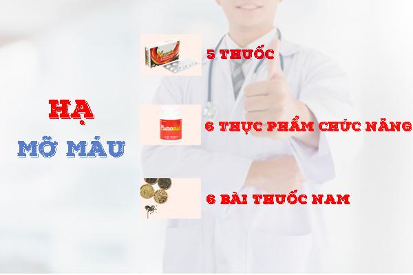 Các sản phẩm hạ mỡ máu