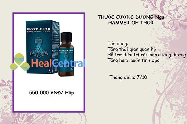 Thuốc cường dương Hamer Of Thor