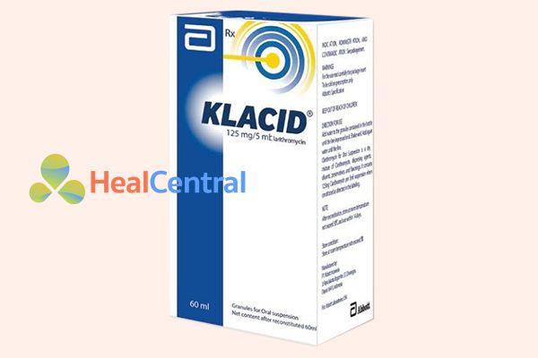 Hộp thuốc Klacid 125mg/5ml