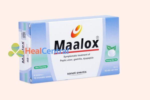 Hộp thuốc Maalox Sanofi