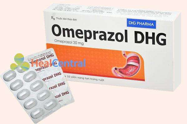 Hộp thuốc Omeprazol DHG 20mg