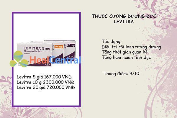 Thuốc cường dương Levitra được sản xuất tại Đức