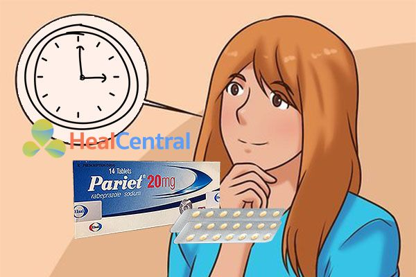 Nên uống Pariet 20mg trước bữa ăn từ 30- 60 phút