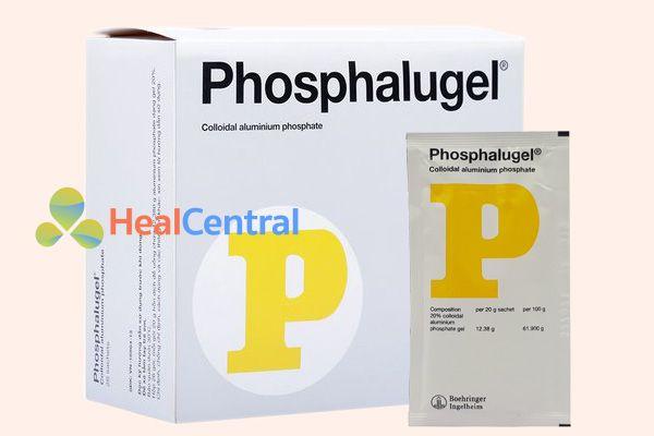 Phosphalugel UK có giá khoảng 100000 đồng/ hộp 26 gói