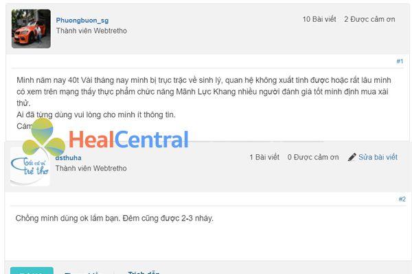Review Mãnh Lực Khang của khách trên webtretho