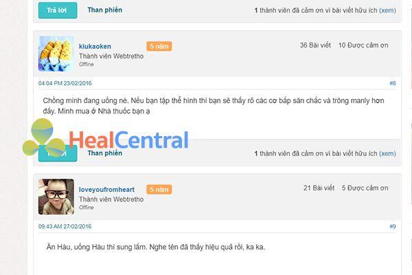 Review về Hàu Tam Hiệp Plus trên Webtretho