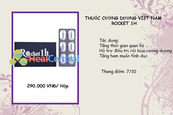 Thuốc cường dương Rocket 1 h nổi tiếng tại Việt Nam