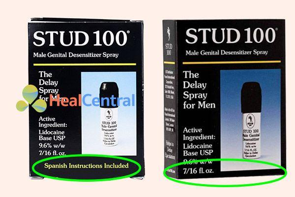 Các loại Stud 100 giả ngoài thị trường