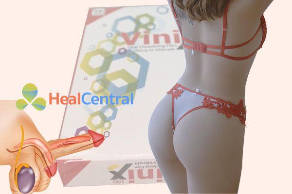 Tem ngậm Vinix giúp điều trị rối loạn cương dương