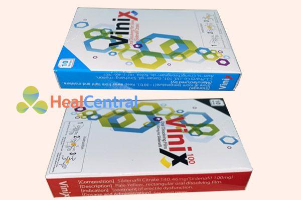 Hai loại tem ngậm Vinix đang bán trên thị trường hiện nay