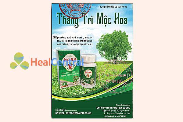 Thăng Trĩ Mộc Hoa có giấy chứng nhận an toàn thực phẩm của Bộ Y tế