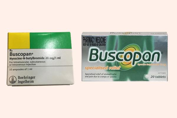 Thuốc Buscopan dạng viên nén và dạng tiêm