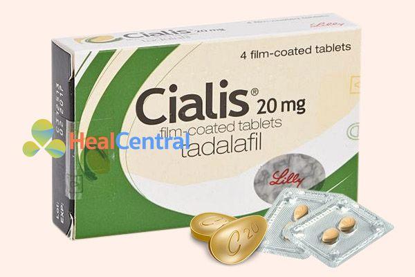 Thuốc Cialis có thành phần chính là Tadalafil