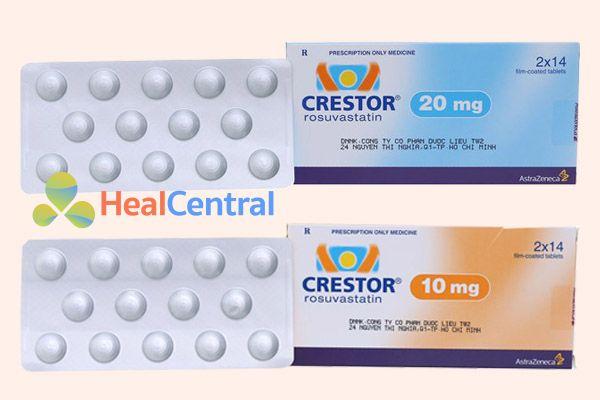 Thuốc Crestor do hãng dược phẩm AstraZeneca phân phối tại Việt Nam