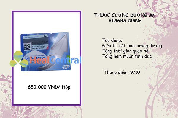 Thuốc cường dương Viagra của hãng Pfizer nổi tiếng toàn cầu