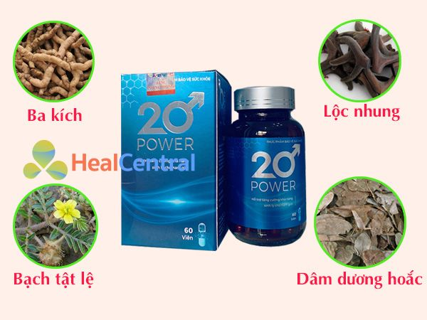 Các thảo dược quý có trong thuốc cường dương 20 Power
