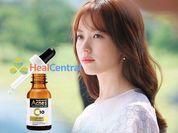 Serum Acnes C10 giúp làn da thêm mịn màng