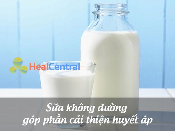 Chữa cao huyết áp bằng sữa không đường