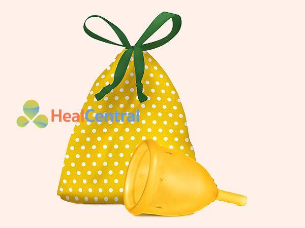 Cốc nguyệt san Ladycup màu vàng